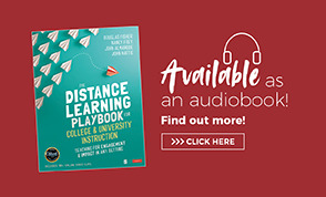 Audio Book Ad The Distance Learning Playbook for College and University Instruction